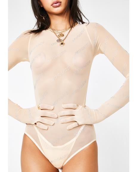 Crystal Mosaic Naked Bodysuit