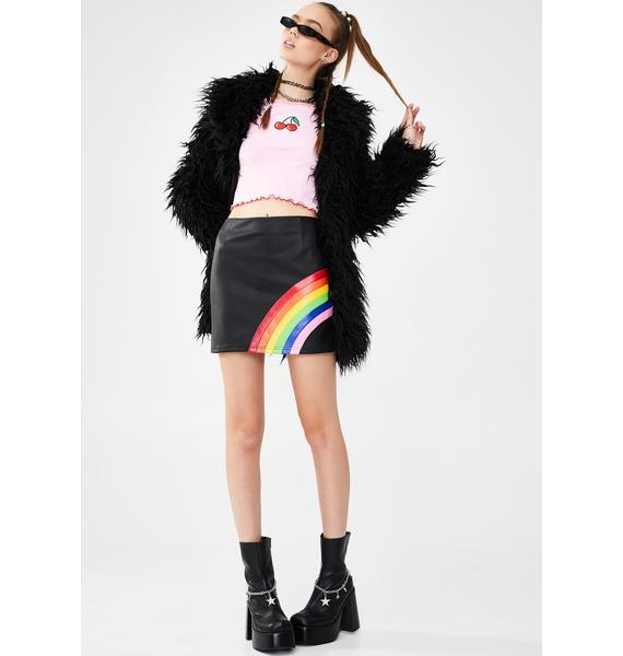 dELiA*s by Dolls Kill Night Rainbow Magic Mini Skirt