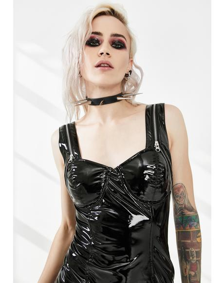 Latexity Bustier Mini Dress
