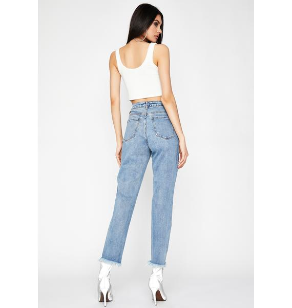 Risky Situation Mom Jeans