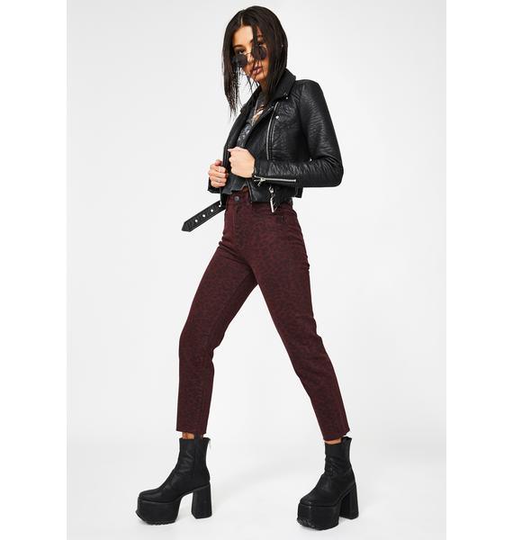 Zee Gee Why Lady Leopard Mum Jeans
