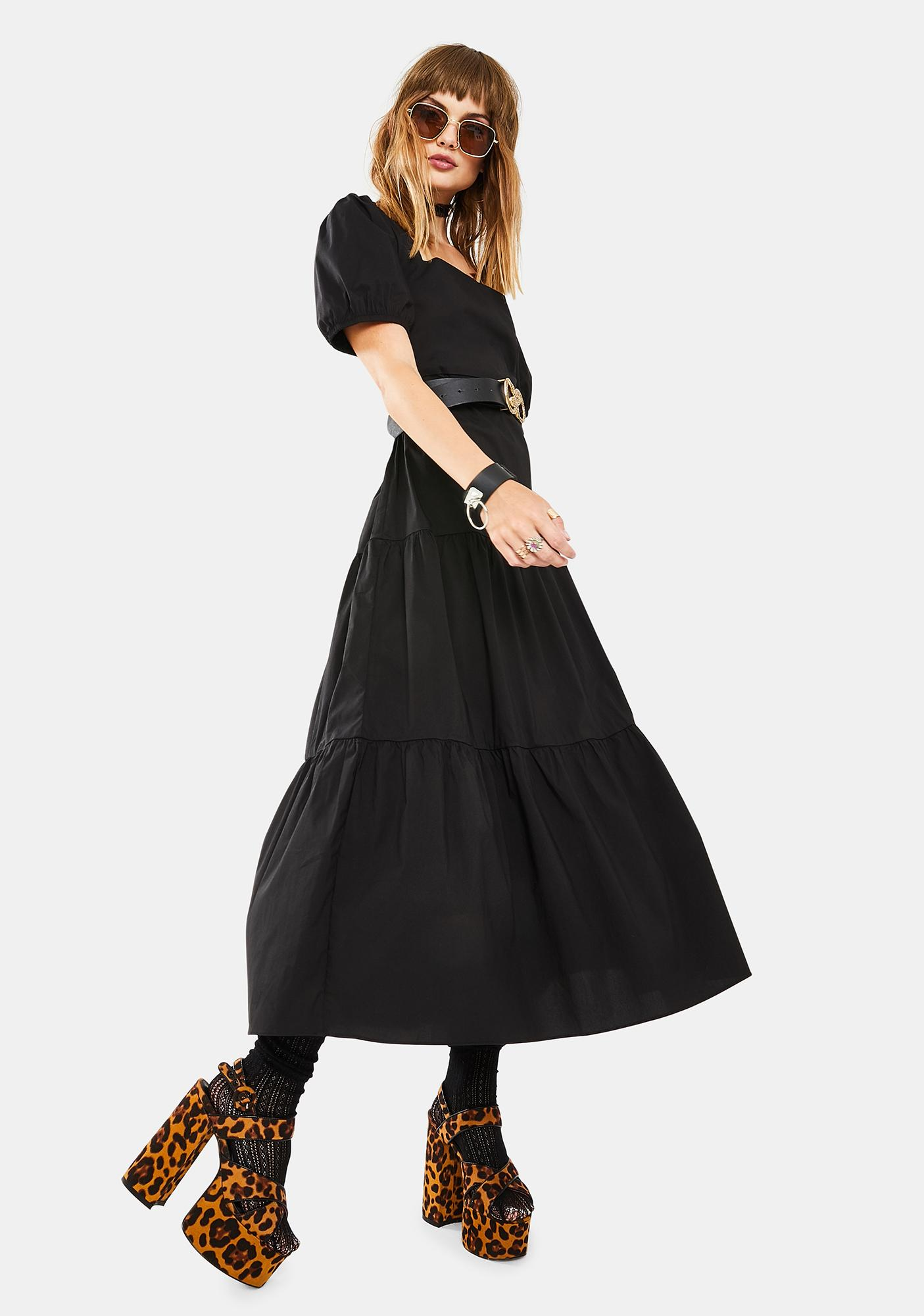 Glamorous Black Midi Dress