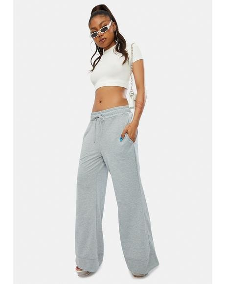 Slate Beachy Bum French Terry Flare Lounge Pants