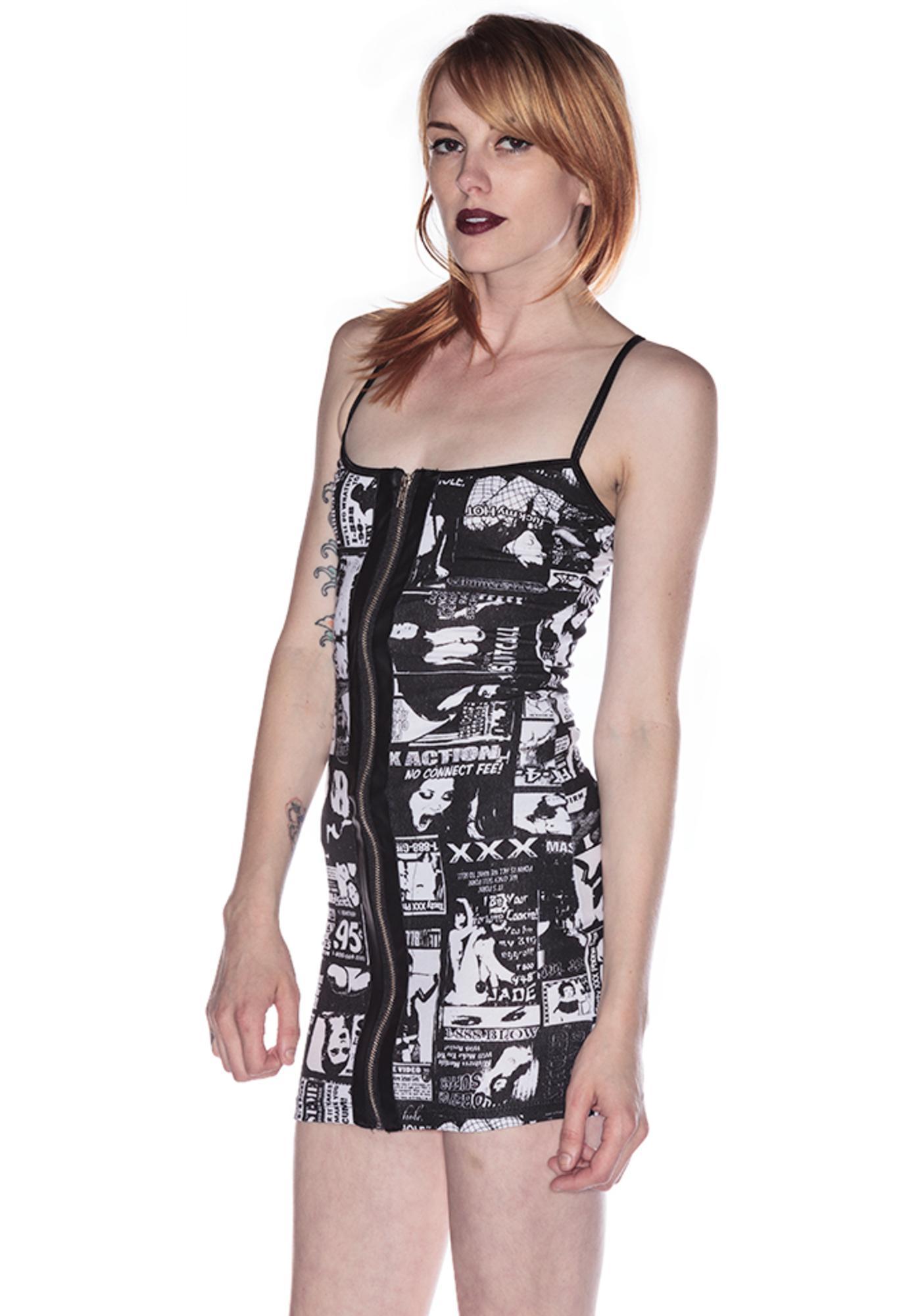 Lip Service Porno Print Dress