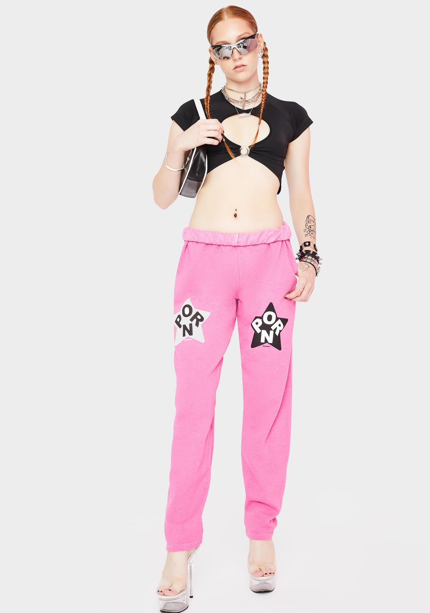 Dreamboy Pink Porn Star Jogger Sweatpants