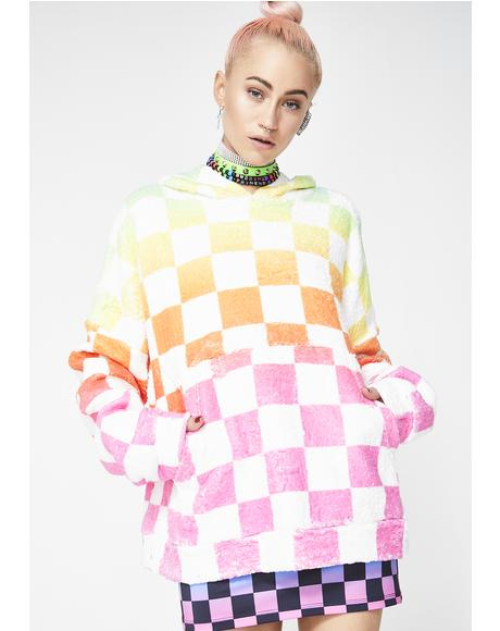 Rainbow Checkerboard Snuggle Jumper