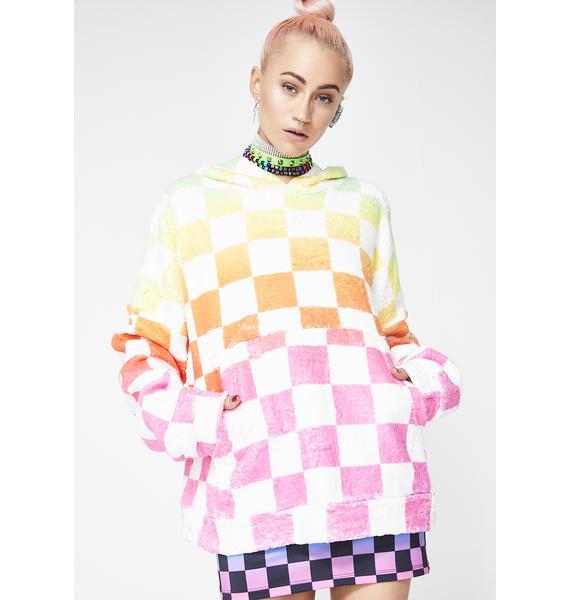 Jaded London Rainbow Checkerboard Snuggle Jumper