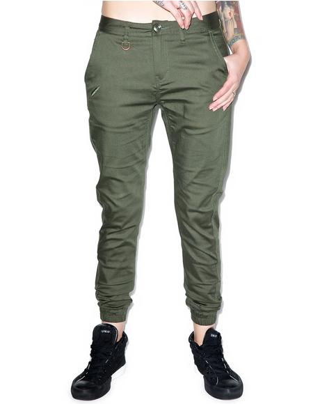 Hanna Stretch Twill Jogger Pants