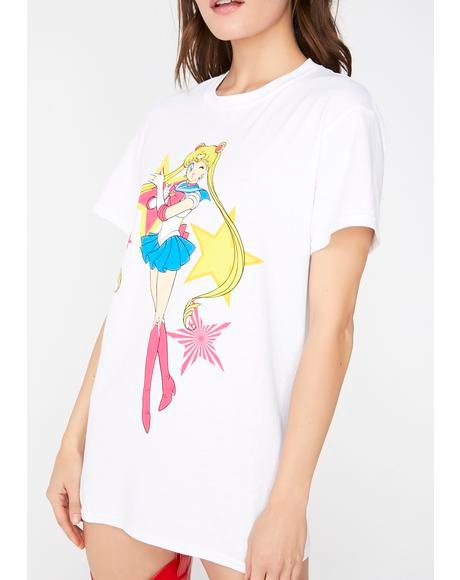 Galactic Girl Power Graphic Tee