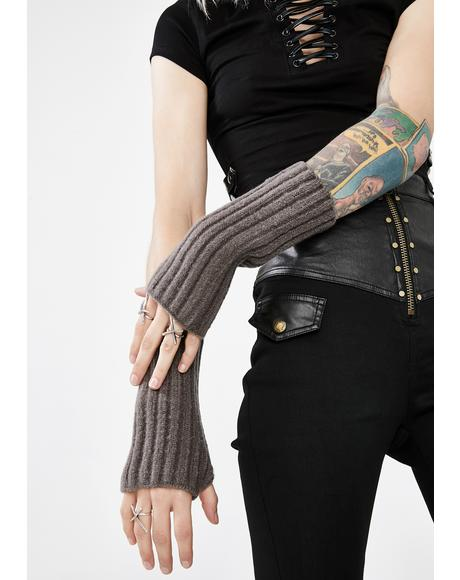 Grey Outside The Lines Armwarmers