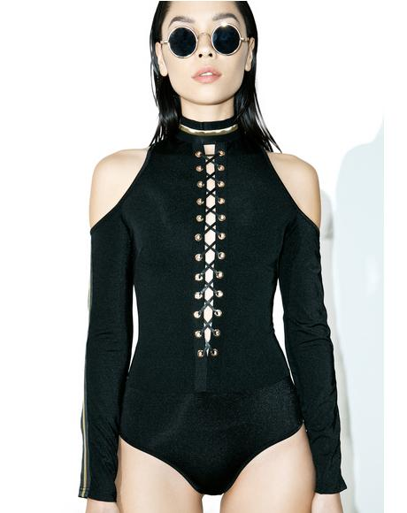 All I Ask Lace-Up Bodysuit