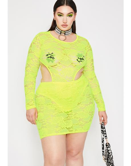 Lux Electric Diva Dominion Lace Dress