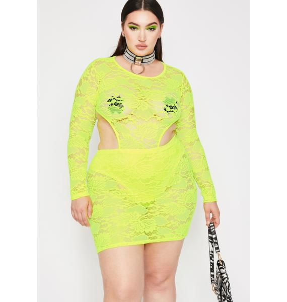 Lux Electric Diva Dominion Lace Dress