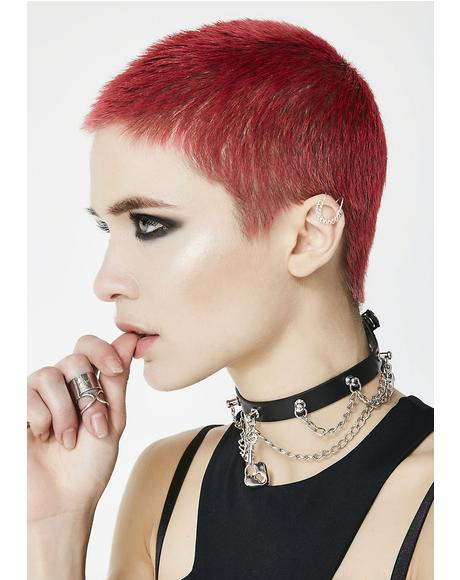 Locked Away Chained Choker