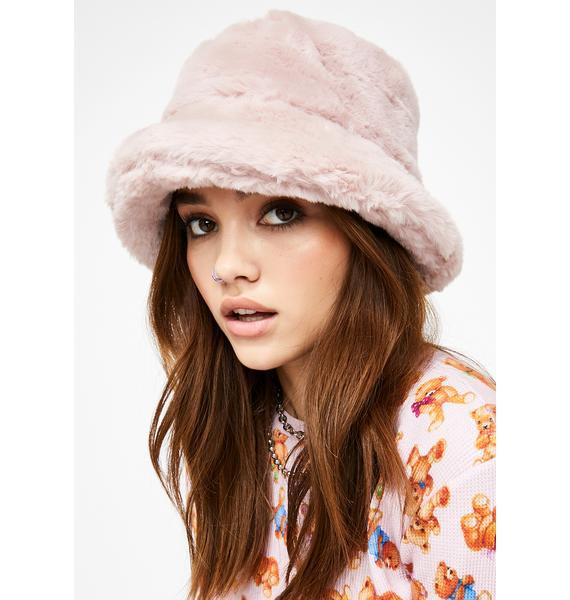 Baby Here We Go Furry Bucket Hat