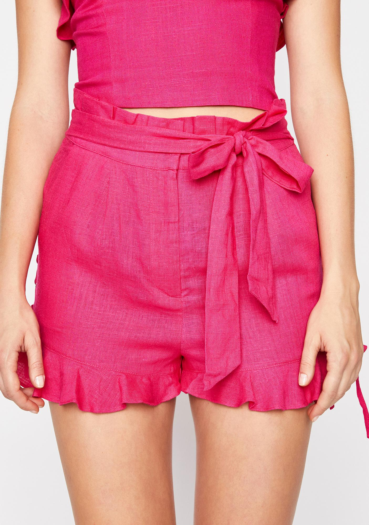 Posh Paradise Ruffle Shorts