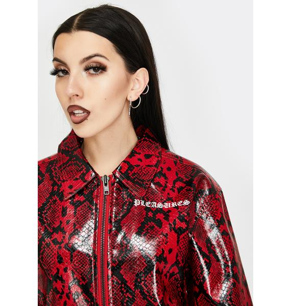 Pleasures Red Rail Snakeskin Work Jacket