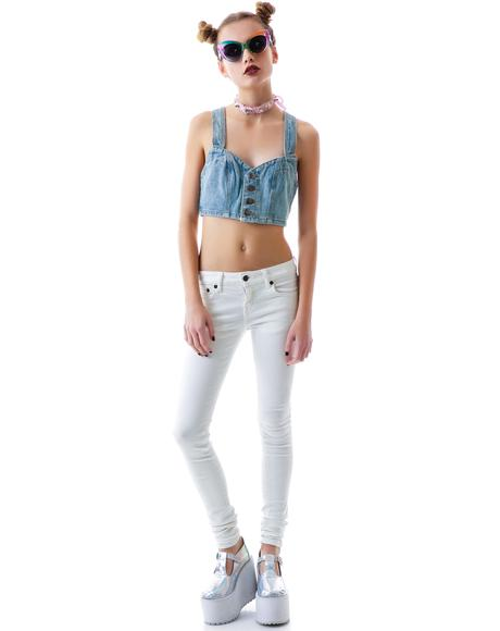 Hood Rat Denim Crop Top