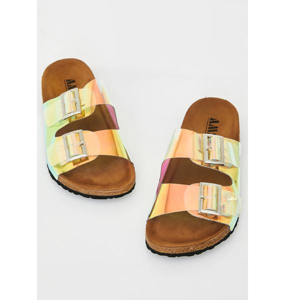 Cosmic Bae Buckle Sandals
