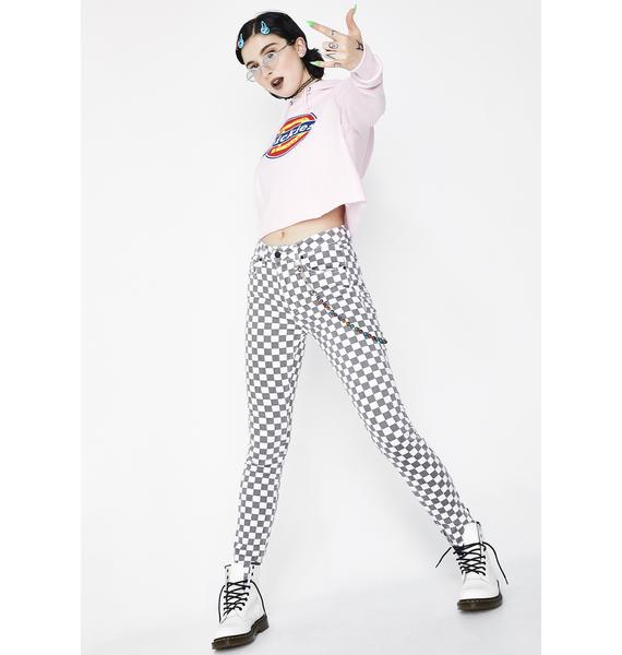 Dickies Girl Checkered 5 Pocket Pants