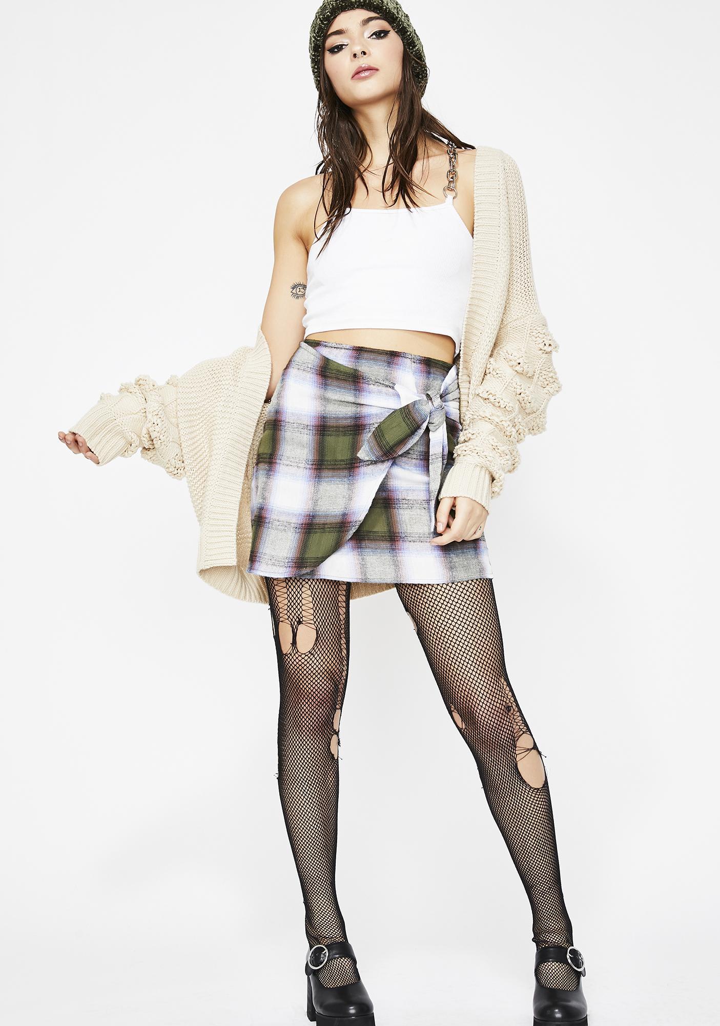 Misbehavior Goals Plaid Skirt