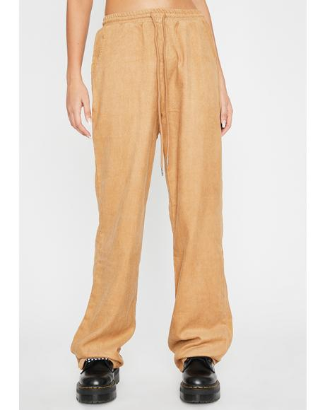 Camel Got The Hookup Corduroy Pants