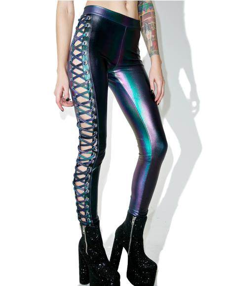 Deep Dive Lace-Up Leggings