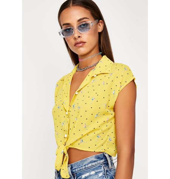 Ready To Flamingle Crop Shirt