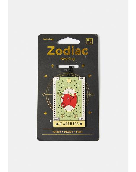 Devoted Taurus Zodiac Keychain