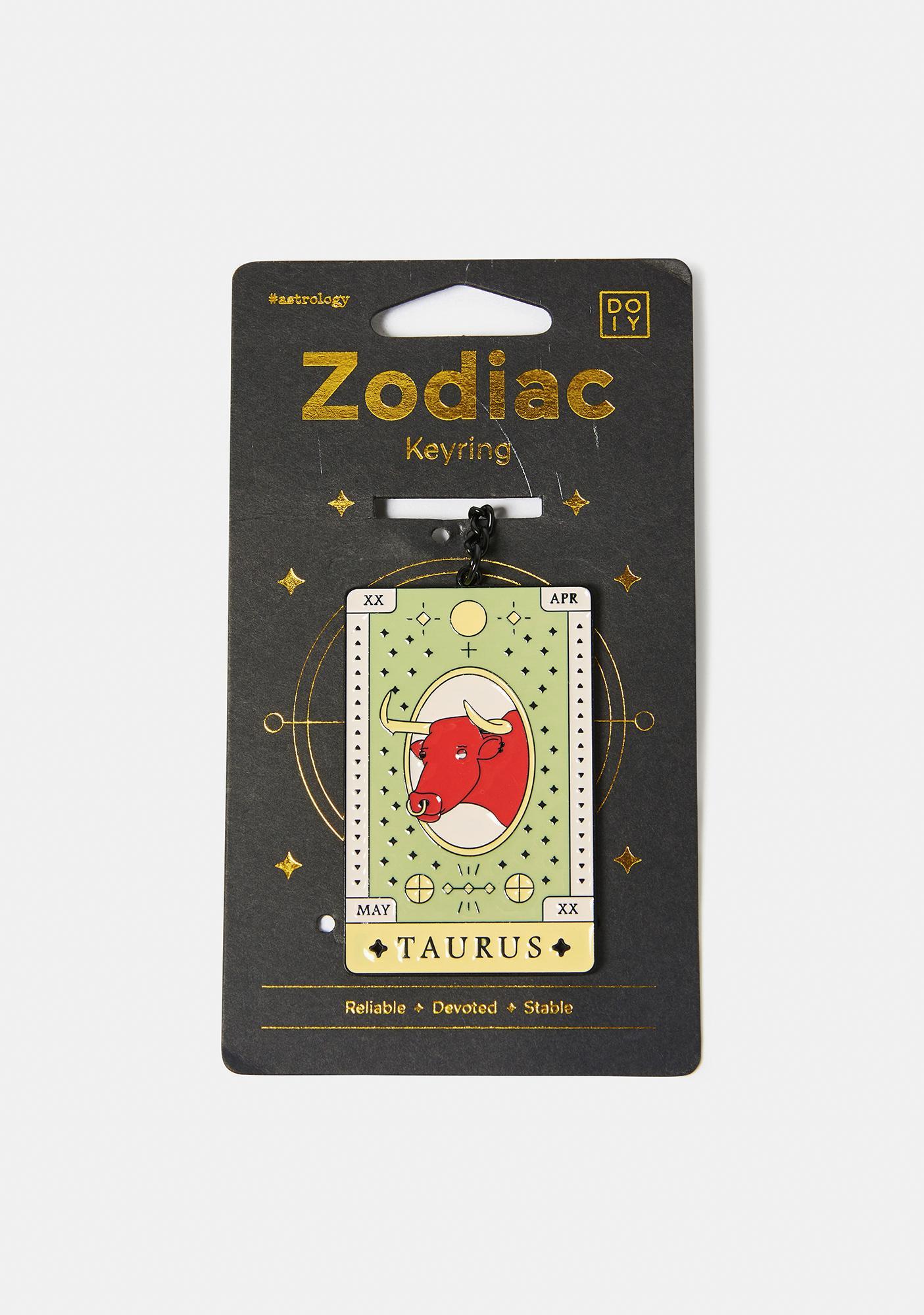 Devoted Taurus Zodiac Keychain