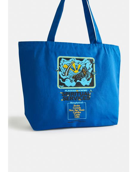 X Playdude Spiritual Services XL Zippered Tote Bag