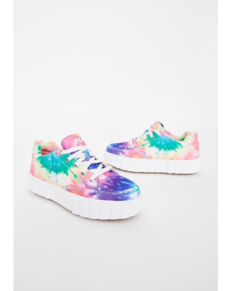 Tie Dye Sandblast Low Sneakers