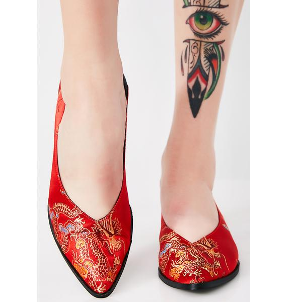 Shellys London Red Dragon Gladys Flats