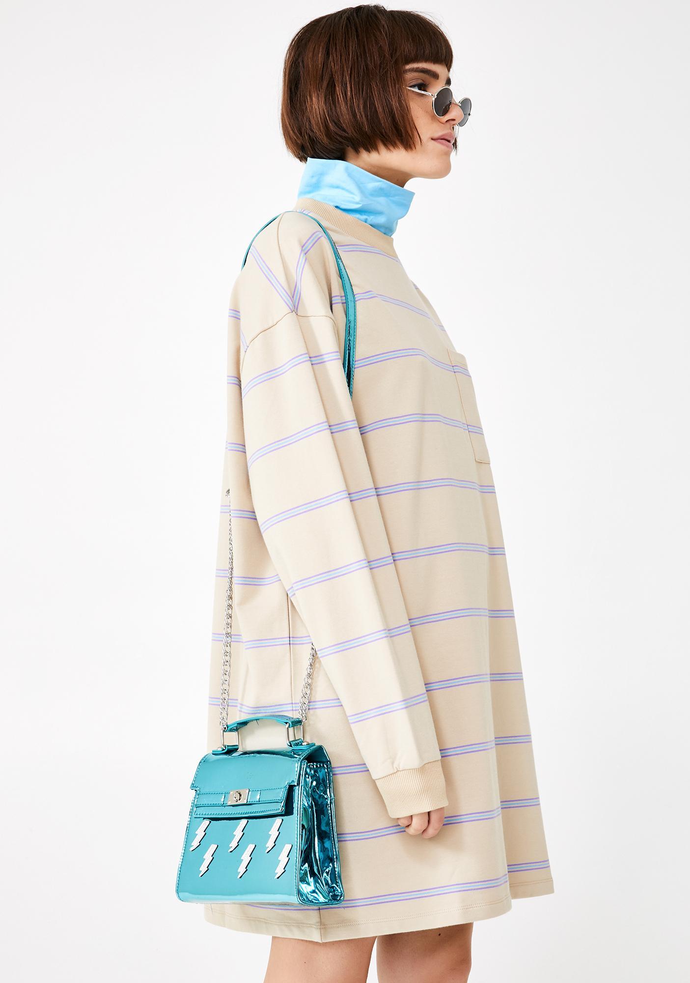 Aqua Thunder Crossbody Bag