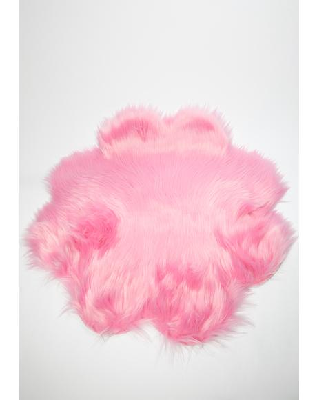 Flower Love Faux Fur Rug