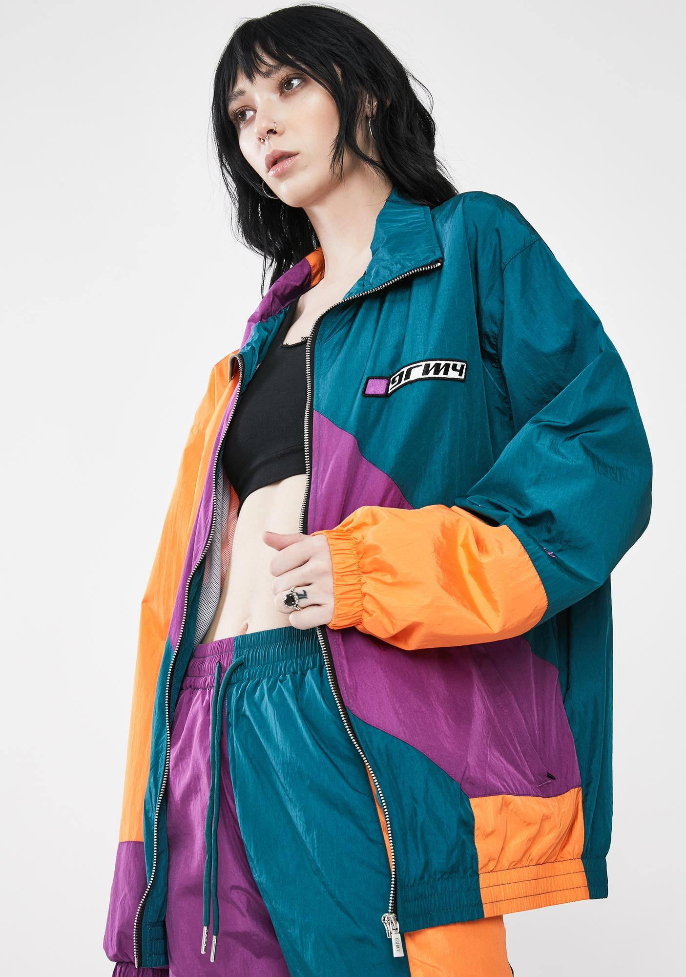 GRIMEY Acknowledge Color Block Track Jacket