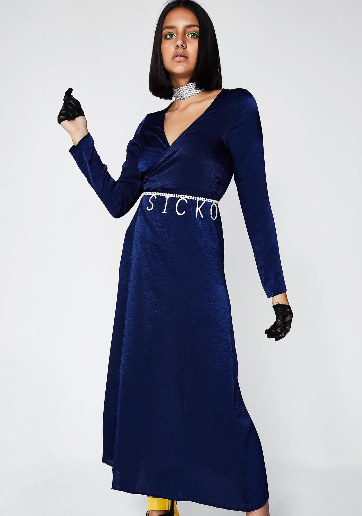 Elegant Attitude Wrap Dress