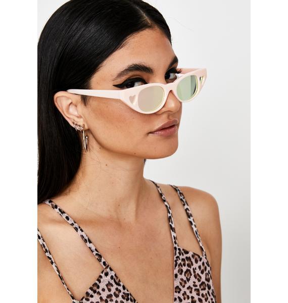 Blush Crazy Love Heart Sunglasses