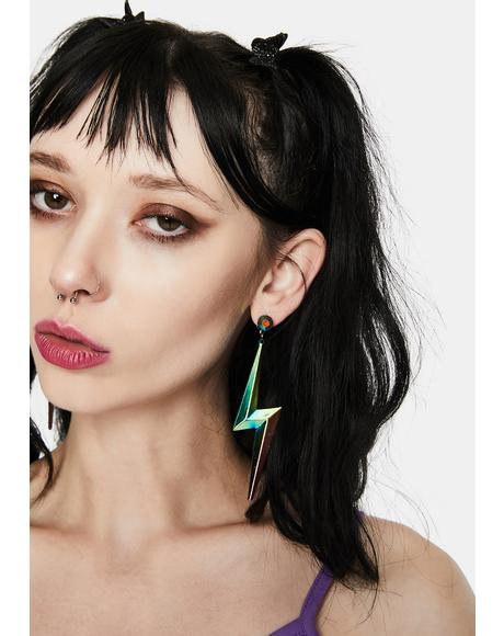 Stroke Of Genius Lightning Bolt Earrings