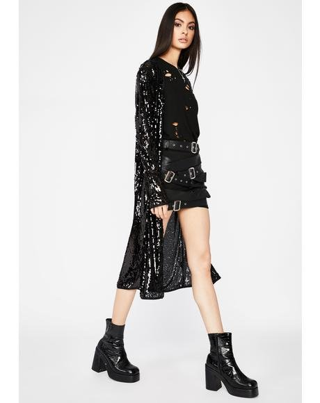 Onyx Disco Freak Sequin Duster