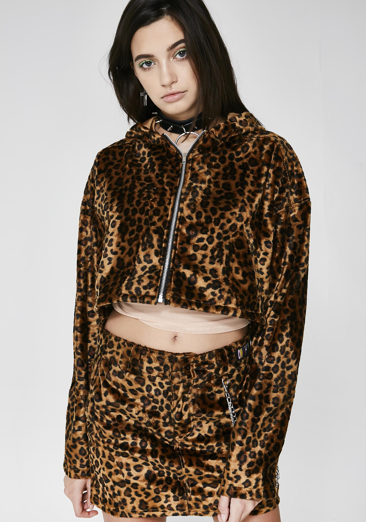 O Mighty Wildcat Cropped Hoodie