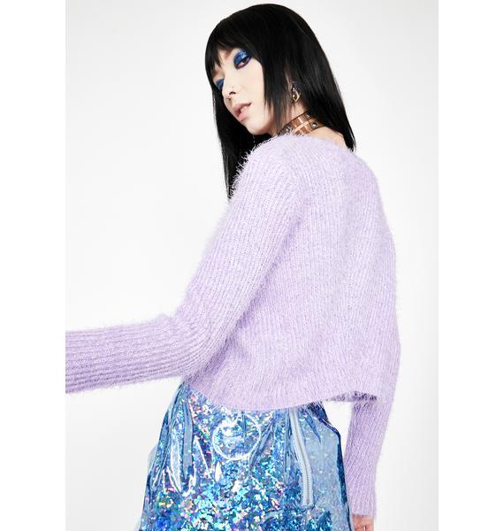 HOROSCOPEZ Sad Song Playlist Cropped Sweater