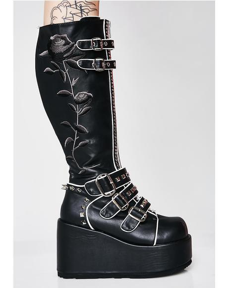 Slaytanic Platform Rose Boots