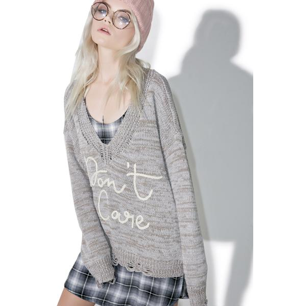 Wildfox Couture Don't Care Cambridge Sweater