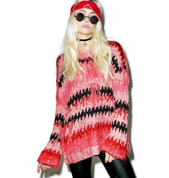 For Love & Lemons Crosby Fringe Sweater