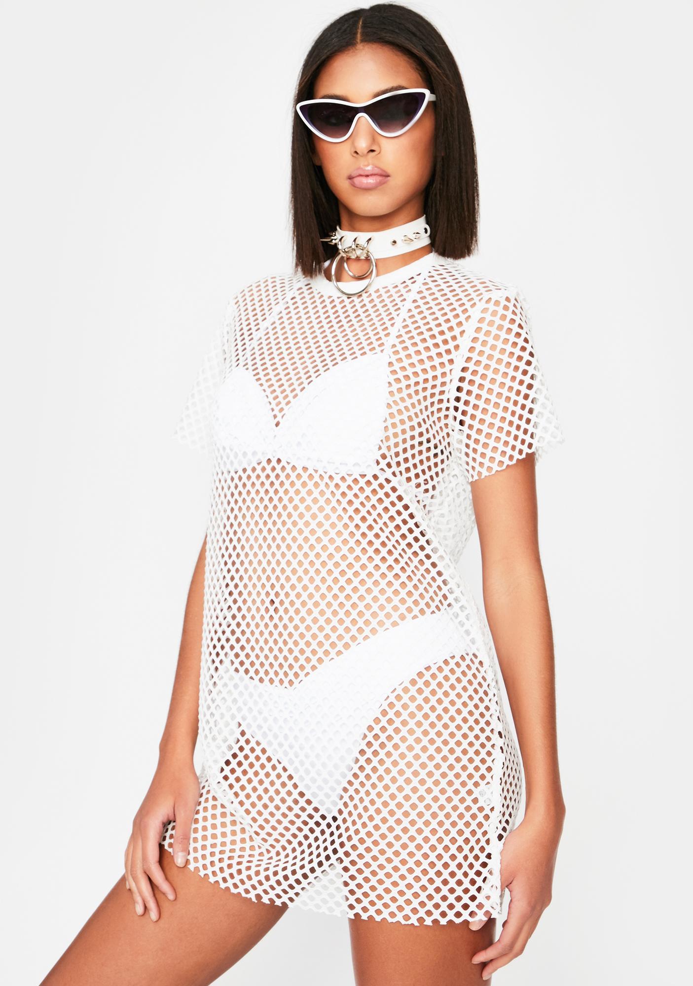 Here To Impress Fishnet Dress