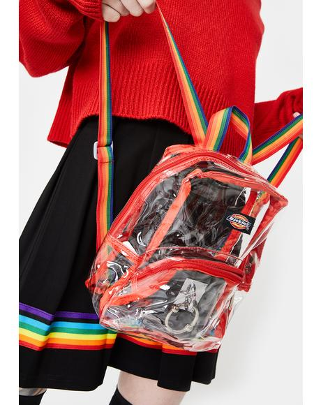 Clear Rainbow Mini Backpack
