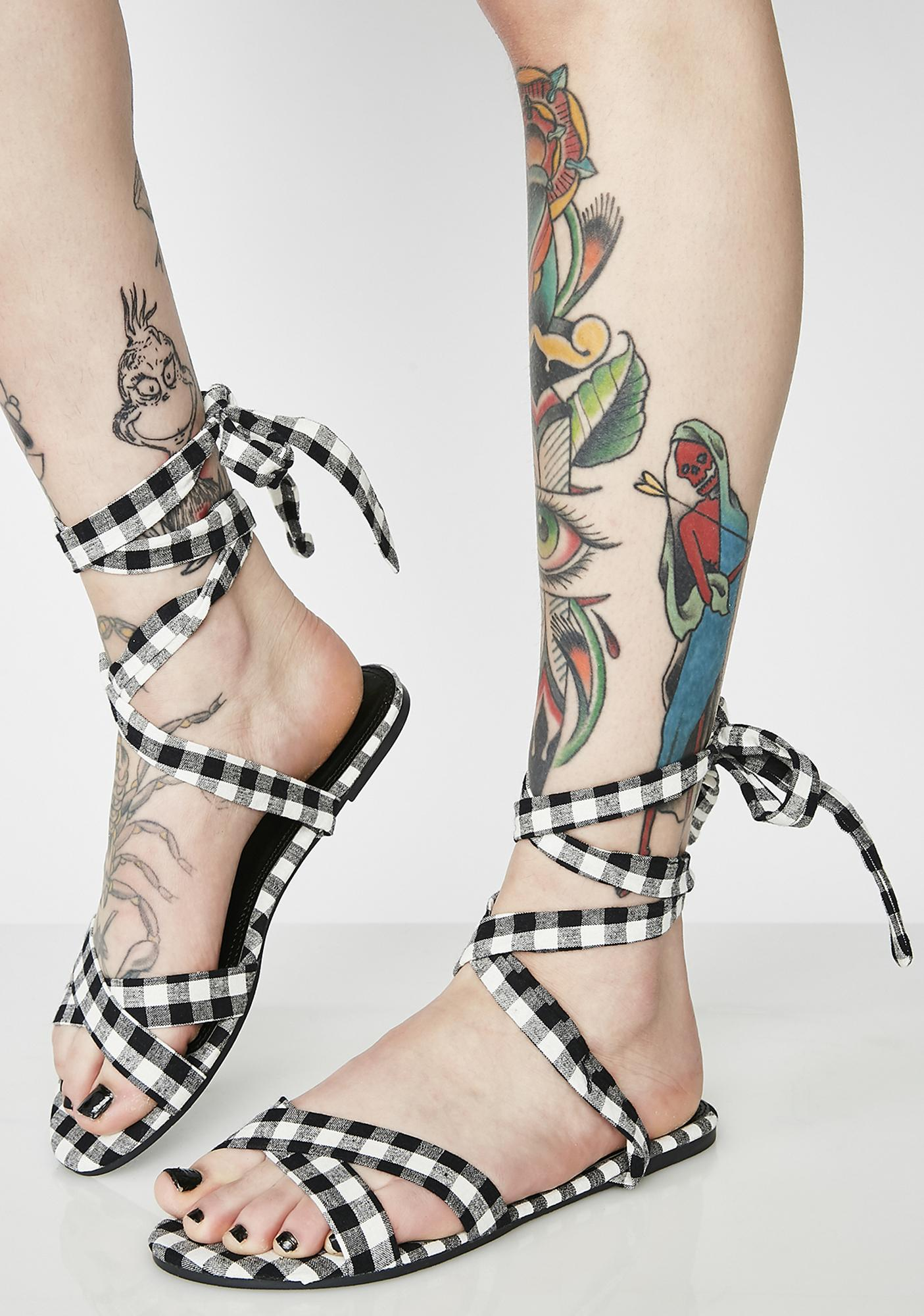Stroll Through Wrap Sandals