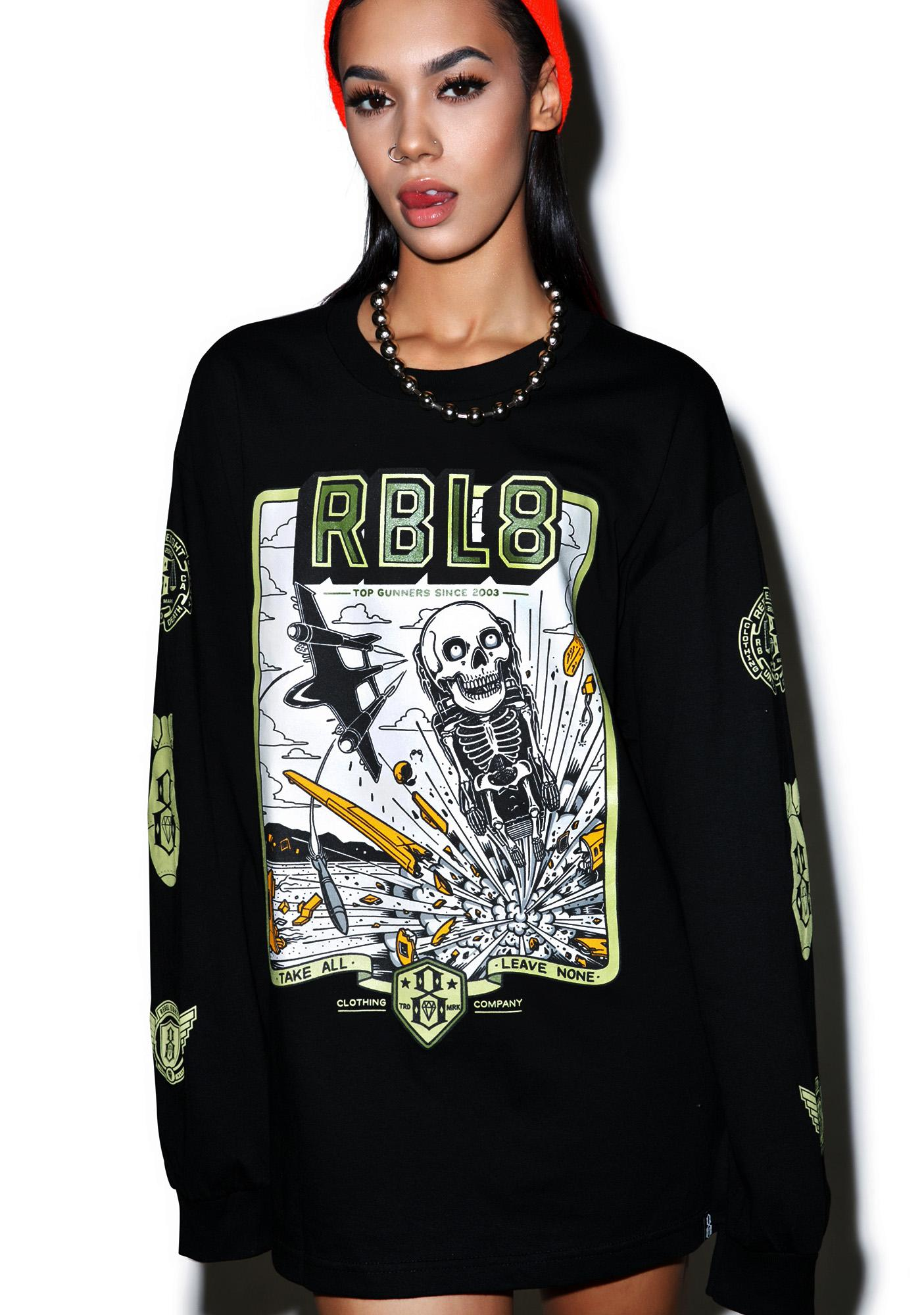 Rebel8 Top Gunner Long Sleeve Tee