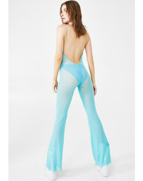 Drive Sheer Backless Jumpsuit